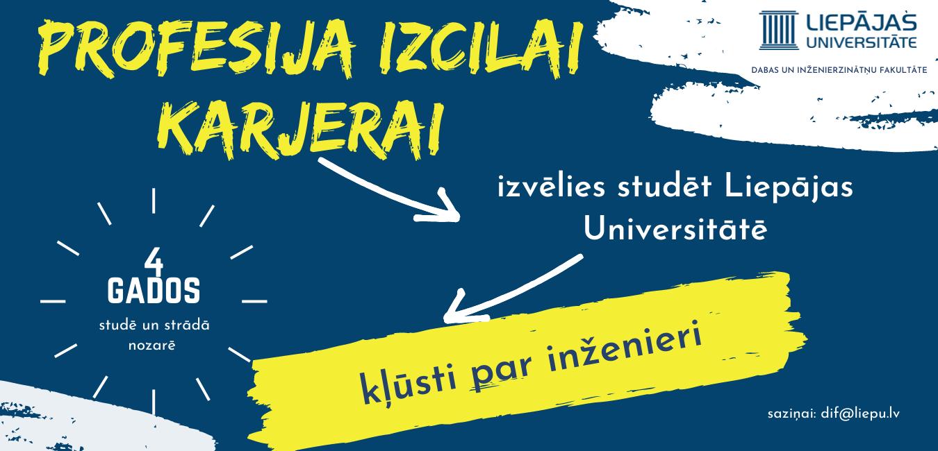 <b>Laipni lūgti <br> Liepājas Universitātes <br> Dabas un inženierzinātņu fakultātē!</b>